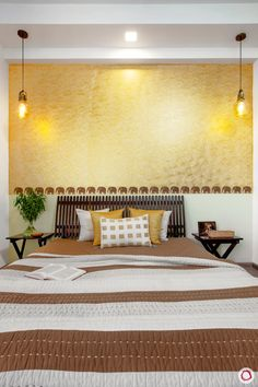Interior Design Images for an Art-Filled, Colourful Noida Home Indian Bedroom Decor, Indian Home Decor, Colour Combinations Interior, Interior Design Images, Interior Ideas, Bedroom Wall Colors, Bedroom Layouts, Traditional Bedroom, Traditional Doors
