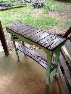 Custom Pallet Foyer / Sofa Table on Etsy, $100.00