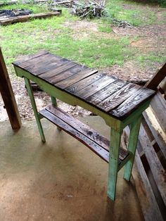 Custom Pallet Foyer / Sofa Table by RustyPerkWoodnStuff on Etsy