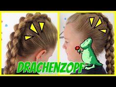 ♦ Drachen ♦ Zopf / Irokesenzopf / französischer 4 Strähnen Zopf♥Flechtfrisur für Mädchen - YouTube