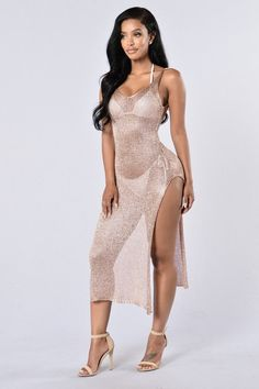 1533c9f13d4 Fiji Cover Up Dress - Rose Gold Sweet Dress