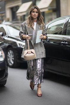 Miroslava Duma à la semaine de la Haute Couture à Paris.