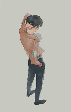 Aaaww Levi!! I wish he stood like this at least once in the anime