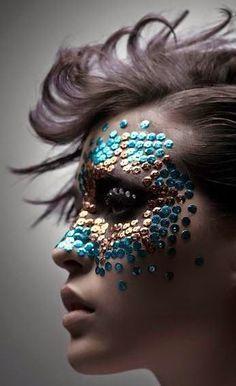 Fx Makeup, Beauty Makeup, Crazy Makeup, Makeup Looks, Dragon Makeup, Kreative Portraits, Fantasy Make Up, Carnival Makeup, Mermaid Makeup