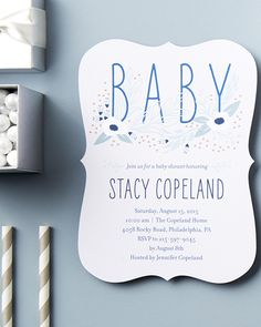 Throw a baby shower for mom she'll never forget. Personalize baby shower invitations at Tiny Prints.