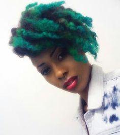 Bold hair color :)