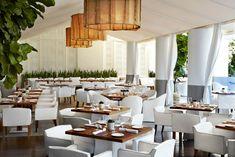 MODERN RESTAURANTS Bianca Restaurant at the Delano South Beach by Sam Robin design. | bocadolobo.com/ #interiordesignprojects #USinteriordesigner