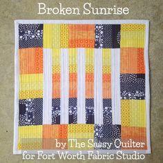 Broken Sunrise Mini Quilt - The Sassy Quilter - for FWFS