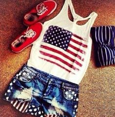 aaadf508d73 Cute 4th of July outfit American Outfit