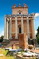 The temple of Antonius and Faustina. The Forum Rome Trajan's Column, Templer, Michelangelo, Vatican, Pictures Images, Emperor, Rome, Gazebo, Outdoor Structures