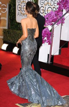 Kate Beckinsale's silver red carpet gown.