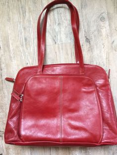 Buxton Red Leather Women S Laptop Bag