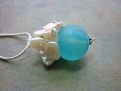 Sea Glass Necklace  Aqua Blue Seaglass Marble by TheMysticMermaid, $52.00
