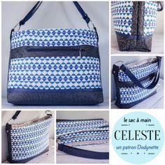 Handbag sewing pattern in faux leather dodynette Louis Vuitton Damier, Gym Bag, Sewing Patterns, Handbags, Compact, Leather Pattern, Crochet, Blog, Diy