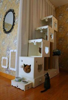 10 Kreative Ideen Für Einen Selbstgemachten Katzenbaum   Watson