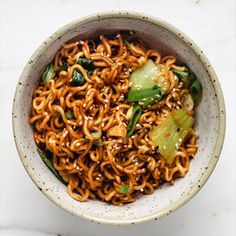 This Ramen Noodle Stir Fry takes the easy Asian noodles out of their normal soup context for a delicious dish filled with fresh green veggies and a rich soy flavour! # Food and Drink vegetarian Ramen Noodle Stir Fry Vegetarian Recipes, Cooking Recipes, Healthy Recipes, Vegetarian Ramen, Healthy Easy Food, Easy Recipes, Whole30 Recipes, Healthy Chicken, Vermicelli Recipes