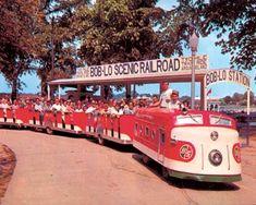 vintage photo of......Train ride at Boblo Island, Detroit, MI