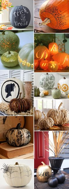 Totally chic pumpkins (I think the original website stole quite a few images from Country Living mag)