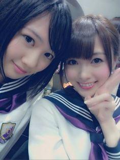 乃木坂46 (nogizaka46)  Nagashima Seira (永島聖羅)  Shiraishi Mai (白石麻衣)