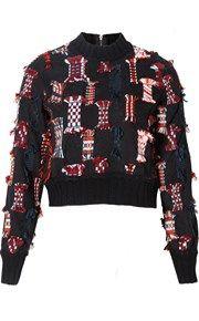 Cropped Confetti Sweater