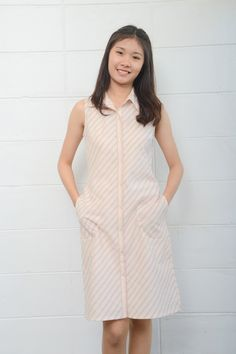 Image of Handwoven and natural dye cotton Aummaraporn dress
