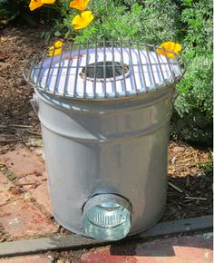 DIY metal 5 gallon bucket rocket stove. These are great for emergency preparedness, because are nearly smokeless, get HOT, and run on twigs. http://www.rootsimple.com/2012/03/a-rocket-stove-made-from-a-five-gallon-metal-bucket/