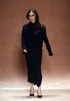 Victoria Beckham   no NYFW Com Anna Wintour na plateia, a ex-Spice Girl apresentou coleção nesta domingo, 15, durante a semana de moda de Nova York, nos Estados Unidos. (Foto: AFP)