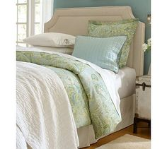 This is exactly what I want in our Master Bedroom - colors, style, everything.
