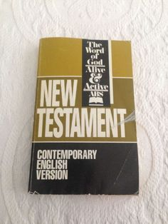 New Testament Contemporary English Version ABS SC 1991 Word of God Alive Active