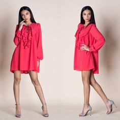 Discover new and vintage dresses at ASOS Marketplace. Take your pick from retro evening gowns, shifts, maxis, babydolls and thousands more styles. Boho Mini Dress, Dress Shirts For Women, Knee Socks, Criss Cross, Evening Gowns, Ruffles, Vintage Dresses, Cold Shoulder Dress, Parties