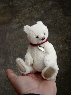 "Ursus, 6""Alpaca Polar Bear Style Artist Bear"