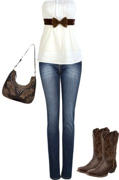 """Chocolate Brown n' Boots"" by cj98girl on Polyvore"