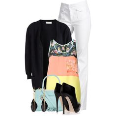 Color Block Tank, created by colierollers on Polyvore