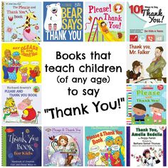 Trust Me, I'm a Mom: Books that teach children of any age to say 'Thank You'