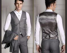 Štýlová pánska vesta ku obleku v tmavo sivej farbe