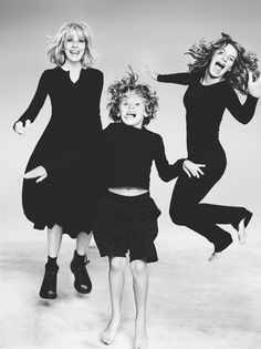 Diane Keaton with her son Duke and daughter Dexter (photographed by Ruven Afanador)
