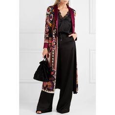Etro Reversible printed satin-jacquard jacket ($2,495) ❤ liked on Polyvore featuring outerwear, jackets, multi colored jacket, etro, paisley jackets, boho jacket and flower print jacket