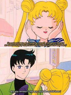 Mamoru called himself a loser xD Sailor moon Luna Sailor Moon, Sailor Moon Funny, Sailor Moon Quotes, Sailor Moon Manga, Sailor Uranus, Sailor Moon Crystal, Sailor Mars, Sailor Moon Aesthetic, Aesthetic Anime