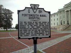 portsmouth naval hospital | Portsmouth Naval Hospital Marker Photo, Click for full size