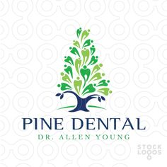 Logo Sold: Styled tooth shapes creates a pine tree design.