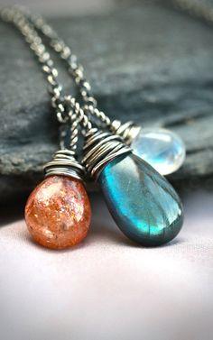 The Equinox Labradorite Moonstone and Sunstone
