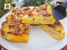 Tortino con patate mozzarella e speck