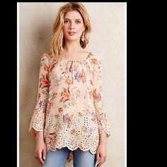 EUC, Meadow Rue, sz medium Beautiful scalloped peasant blouse Meadow Rue Tops Blouses