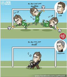 David De Gea last year vs this year