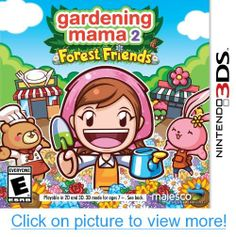 Buy Gardening Mama Forest Friends on at Mighty Ape NZ. There are 50 mini-games to choose from to help you in your quest for the perfect garden and you can even help your animal friends by selling your care. Jeux Nintendo 3ds, Wii, Xbox, Videogames, 3d Mode, Gamers, Forest Friends, Mini Games, Stylus