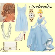 """Cinderella"" by yestofashionstyle on Polyvore Disney Princess style :)"