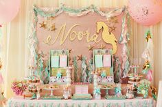Mermaid + Under The Sea 1st Birthday Party via Kara's Party Ideas | KarasPartyIdeas.com (85)