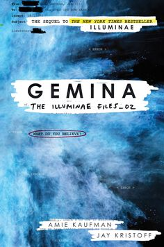 Cover Reveal: Gemina (The Illuminae Files #2) by Amie Kaufman & Jay Kristoff -On sale October 18th 2016 by Knopf Books for Young Readers -Moving to a space station at the edge of the galaxy was always going to be the death of Hanna's social life. Nobody said it might actually get her killed.