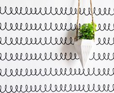"The Lovely Wall Co. Removable Paper - 24"" X 48"" Doodle Squiggly Tile Blush"