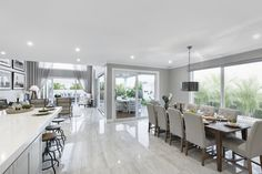 Stunning living area filled with natural light, bringing out the timber furnishings in our Marriott Grange 49 Best Kitchen Designs, New Home Designs, Living Area, Living Spaces, Living Rooms, New Kitchen, French Kitchen, Kitchen Ideas, Design Your Dream House